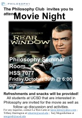 The Philosophy Club Presents: Movie Night (10/30/15)